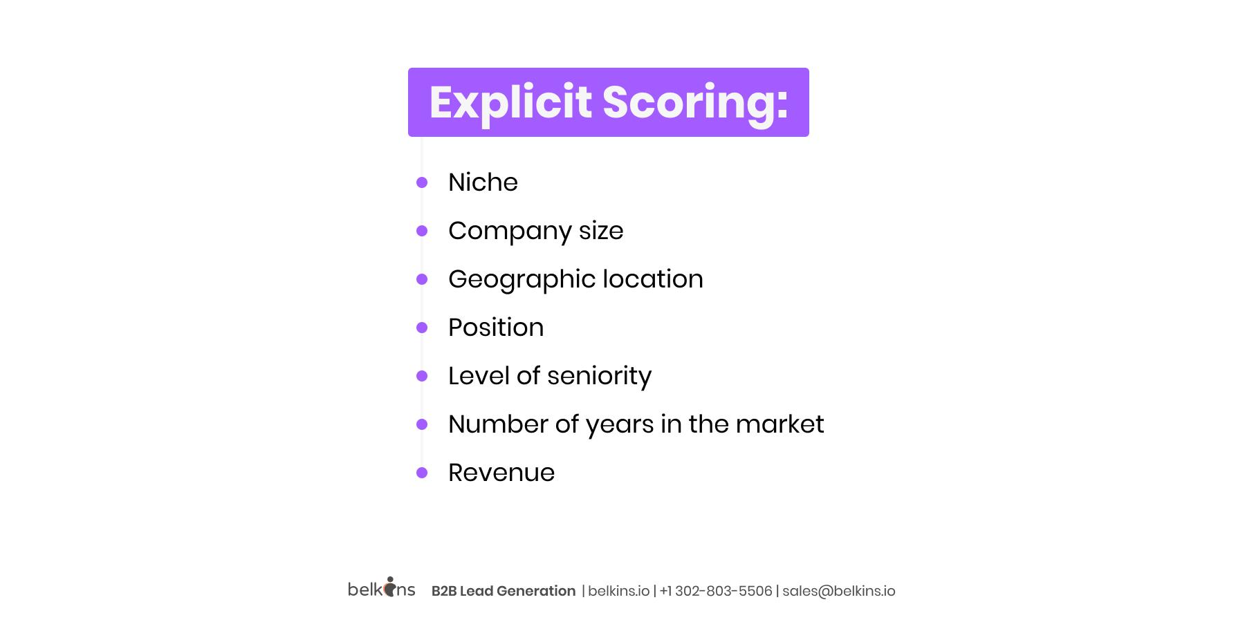 Explicit-Scoring